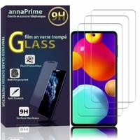 """Samsung Galaxy M62/ Galaxy F62 6.7"""" SM-M625F SM-M625F/DS SM-E625F SM-E625F/DS [Les Dimensions EXACTES du telephone: 163.9 x 76.3 x 9.5 mm]: Lot / Pack de 3 Films de protection d'écran Verre Trempé"""