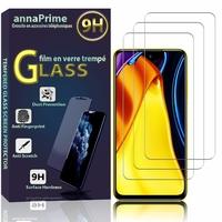 """Xiaomi Poco M3 Pro 5G 6.5"""" M2103K19PG MZB095JEU MZB095FEU MZB095IEU (non compatible Poco M3 6.53""""): Lot / Pack de 3 Films de protection d'écran Verre Trempé"""