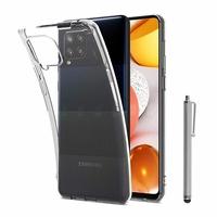 """Samsung Galaxy M42 5G 6.6"""" SM-M426B SM-M426B/DS [Les Dimensions EXACTES du telephone: 164.4 x 75.9 x 8.6 mm]: Coque Silicone gel UltraSlim et Ajustement parfait + Stylet - TRANSPARENT"""