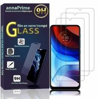"""Motorola Moto E7 Power 6.51"""" PAMH0001IN PAMH0010IN PAMH0019IN (non compatible Motorola Moto E7): Lot / Pack de 3 Films de protection d'écran Verre Trempé"""