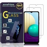 """Samsung Galaxy A02 6.5"""" SM-A022F A022F/DS A022M A022M/DS (non compatible Galaxy A02S): Lot / Pack de 2 Films de protection d'écran Verre Trempé"""