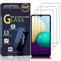 """Samsung Galaxy A02 6.5"""" SM-A022F A022F/DS A022M A022M/DS (non compatible Galaxy A02S): Lot / Pack de 3 Films de protection d'écran Verre Trempé"""