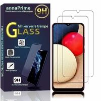"""Samsung Galaxy A02S 6.5"""" SM-A025F A025F/DS A025G A025G/DS A025M A025M/DS (non compatible Galaxy A02): Lot / Pack de 2 Films de protection d'écran Verre Trempé"""