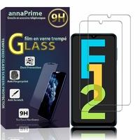 """Samsung Galaxy F12 6.5"""" SM-F127G SM-F127G/DS SM-F127F SM-F127F/DS [Les Dimensions EXACTES du telephone: 164 x 75.9 x 9.7 mm]: Lot / Pack de 2 Films de protection d'écran Verre Trempé"""