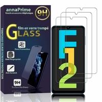 """Samsung Galaxy F12 6.5"""" SM-F127G SM-F127G/DS SM-F127F SM-F127F/DS [Les Dimensions EXACTES du telephone: 164 x 75.9 x 9.7 mm]: Lot / Pack de 3 Films de protection d'écran Verre Trempé"""