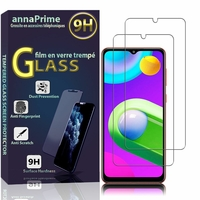 """Samsung Galaxy M02 6.5"""" SM-M022F SM-M022F/DS SM-M022G SM-M022G/DS SM-M022F/DS SM-M022M/DS (non compatible Galaxy M02s): Lot / Pack de 2 Films de protection d'écran Verre Trempé"""