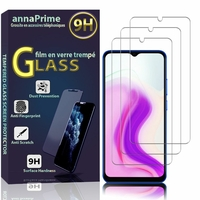 """Blackview A70 (2021) 6.52"""" (non compatible Blackview A7 5.0"""") [Les Dimensions EXACTES du telephone: 165.3 x 77.5 x 8.3 mm]: Lot / Pack de 3 Films de protection d'écran Verre Trempé"""
