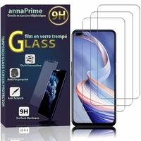 """Oppo Reno4 Z 5G/ Oppo A92S 6.57"""" CPH2065 PDKM00 (non compatible OPPO A92 6.5"""") [Les Dimensions EXACTES du telephone: 163.8 x 75.5 x 8.1 mm]: Lot / Pack de 3 Films de protection d'écran Verre Trempé"""