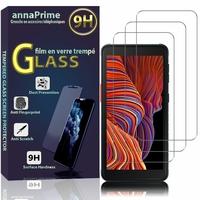 """Samsung Galaxy Xcover 5 5.3"""" SM-G525F SM-G525F/DS [Les Dimensions EXACTES du telephone: 147.1 x 71.6 x 9.2 mm]: Lot / Pack de 3 Films de protection d'écran Verre Trempé"""