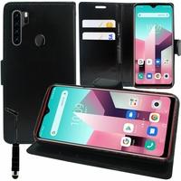 """Blackview A80 Plus 6.49"""" (non compatible Blackview A80 6.21"""") [Les Dimensions EXACTES du telephone: 162.75 x 77 x 8.8 mm]: Etui portefeuille Support Video cuir PU - NOIR"""