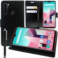 """Blackview A80 Plus 6.49"""" (non compatible Blackview A80 6.21"""") [Les Dimensions EXACTES du telephone: 162.75 x 77 x 8.8 mm]: Etui portefeuille Support Video cuir PU + Stylet - NOIR"""