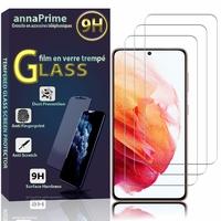 """Samsung Galaxy S21 5G 6.2"""" SM-G991 G991B G991B/DS G991U (non compatible Galaxy S21+ 5G/ S21 Plus 5G 6.7""""): Lot / Pack de 3 Films de protection d'écran Verre Trempé"""