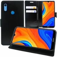 """Huawei Y6S (2019)/ Honor 8A 2020/ 8A Prime 6.09"""" JAT-LX3 JAT-L29 JAT-LX1 JAT-L41[Les Dimensions EXACTES du telephone: 156.3 x 73.5 x 8 mm]: Etui portefeuille Support Video cuir PU - NOIR"""