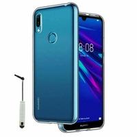 """Huawei Y6S (2019)/ Honor 8A 2020/ 8A Prime 6.09"""" JAT-LX3 JAT-L29 JAT-LX1 JAT-L41[Les Dimensions EXACTES du telephone: 156.3 x 73.5 x 8 mm]: Coque Silicone gel UltraSlim et Ajustement parfait + mini Stylet - TRANSPARENT"""
