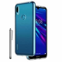 """Huawei Y6S (2019)/ Honor 8A 2020/ 8A Prime 6.09"""" JAT-LX3 JAT-L29 JAT-LX1 JAT-L41[Les Dimensions EXACTES du telephone: 156.3 x 73.5 x 8 mm]: Coque Silicone gel UltraSlim et Ajustement parfait + Stylet - TRANSPARENT"""