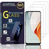 """OnePlus Nord N100 6.52"""" BE2013 (non compatible OnePlus Nord 6.44""""/ Nord N10 5G 6.49""""): Lot / Pack de 3 Films de protection d'écran Verre Trempé"""