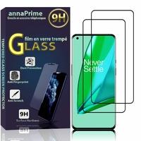"""OnePlus 9 6.55"""" LE2110 LE2111 LE2113 LE2115 LE2117 (non compatible OnePlus 9 Pro 6.7""""): Lot / Pack de 2 Films de protection d'écran Verre Trempé"""