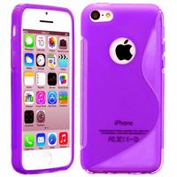 Apple iPhone 5C: Accessoire Housse Etui Pochette Coque S silicone gel - VIOLET