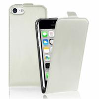 Apple iPhone 5C: Accessoire Housse coque etui cuir fine slim - BLANC