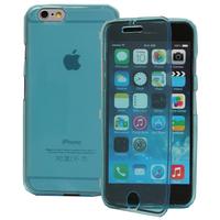 Apple iPhone 6/ 6s: Accessoire Coque Etui Housse Pochette silicone gel Portefeuille Livre rabat - BLEU