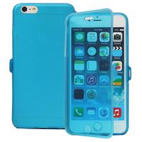 Apple iPhone 6 Plus/ 6s Plus: Accessoire Coque Etui Housse Pochette silicone gel Portefeuille Livre rabat - BLEU