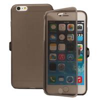 Apple iPhone 6 Plus/ 6s Plus: Accessoire Coque Etui Housse Pochette silicone gel Portefeuille Livre rabat - GRIS