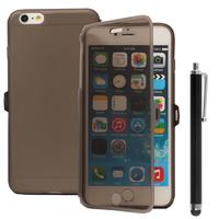 Apple iPhone 6 Plus/ 6s Plus: Accessoire Coque Etui Housse Pochette silicone gel Portefeuille Livre rabat + Stylet - GRIS