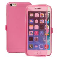 Apple iPhone 6 Plus/ 6s Plus: Accessoire Coque Etui Housse Pochette silicone gel Portefeuille Livre rabat - ROSE