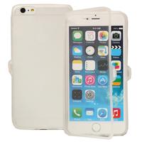 Apple iPhone 6 Plus/ 6s Plus: Accessoire Coque Etui Housse Pochette silicone gel Portefeuille Livre rabat - TRANSPARENT