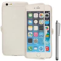 Apple iPhone 6 Plus/ 6s Plus: Accessoire Coque Etui Housse Pochette silicone gel Portefeuille Livre rabat + Stylet - TRANSPARENT
