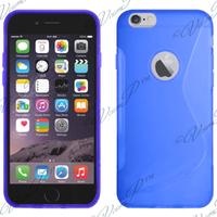 Apple iPhone 6 Plus/ 6s Plus: Accessoire Housse Etui Pochette Coque S silicone gel - BLEU