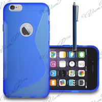 Apple iPhone 6 Plus/ 6s Plus: Accessoire Housse Etui Pochette Coque S silicone gel + Stylet - BLEU