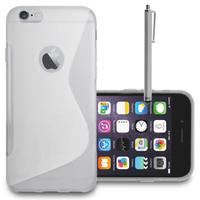 Apple iPhone 6 Plus/ 6s Plus: Accessoire Housse Etui Pochette Coque S silicone gel + Stylet - TRANSPARENT