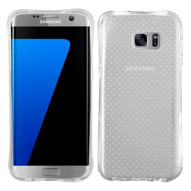 offre ryobi 2017 Samsung Galaxy S7 edge G935F/ G935FD/ S7 edge (CDMA) G935:  Coque Silicone Antichoc Ultraslim motif de grains flottés - TRANSPARENT