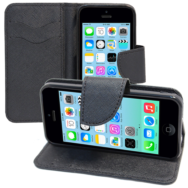 apple iphone 5c accessoire etui portefeuille livre housse coque pochette support vid o cuir pu. Black Bedroom Furniture Sets. Home Design Ideas
