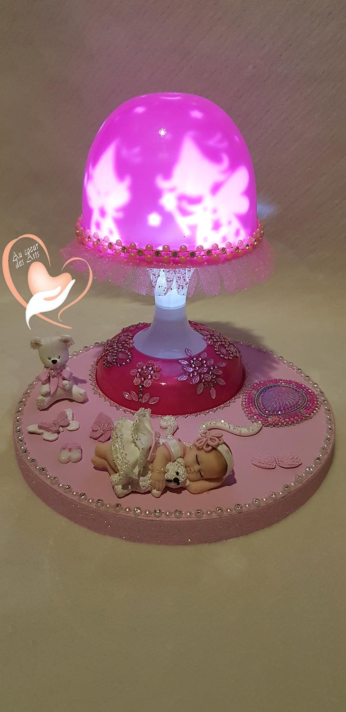 Enfants Arts De Fille Au Lampe Bébé Veilleuse Chevet Coeur Des tsQrdhCx