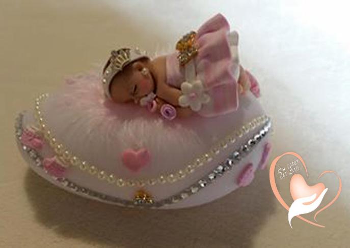 Veilleuse b b galet lumineux multicolors cadeaux de naissance au coeur des arts - Bebe en pate fimo ...