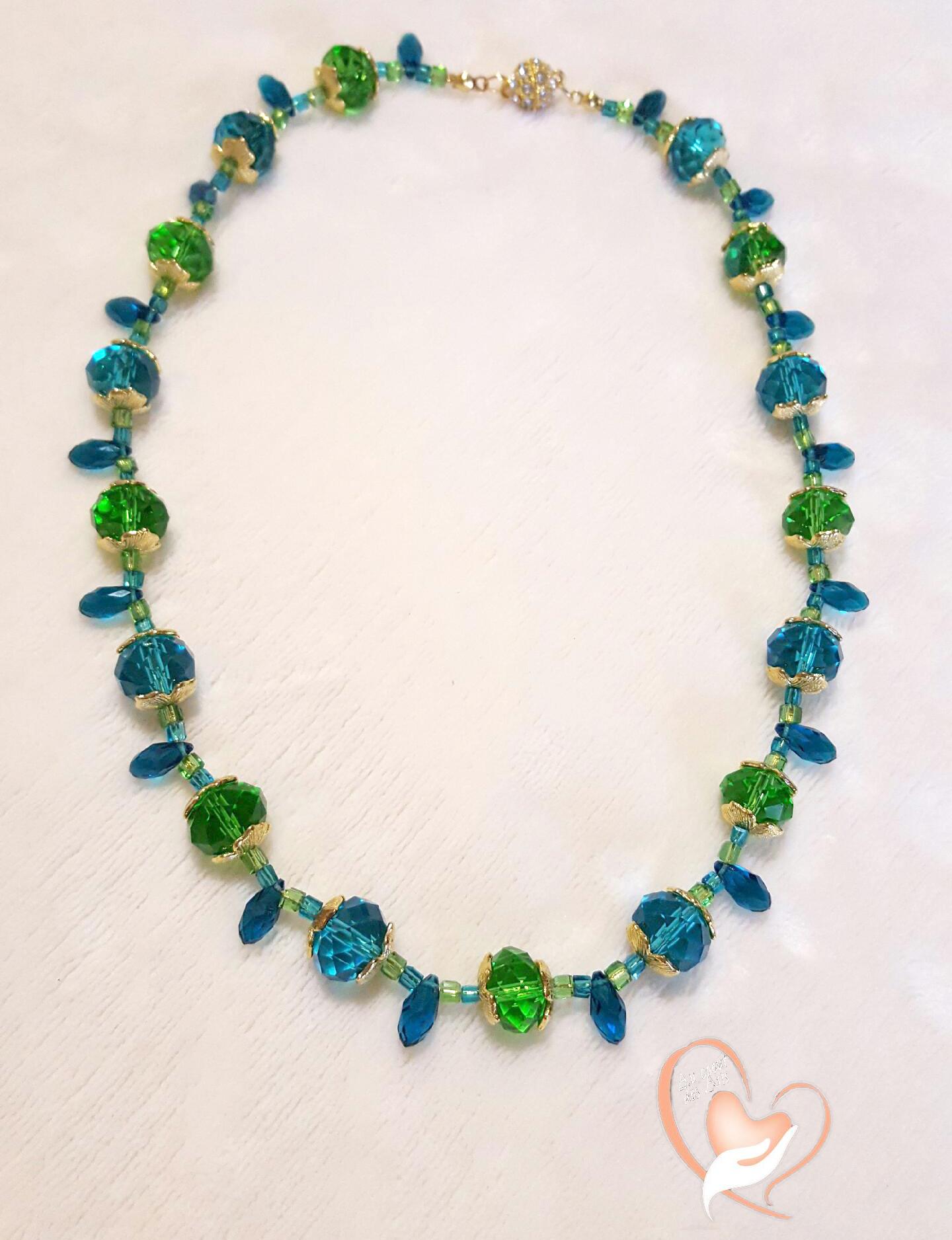 collier perle cristal