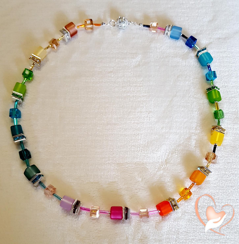 collier perles polaris multicolore argent colliers au. Black Bedroom Furniture Sets. Home Design Ideas