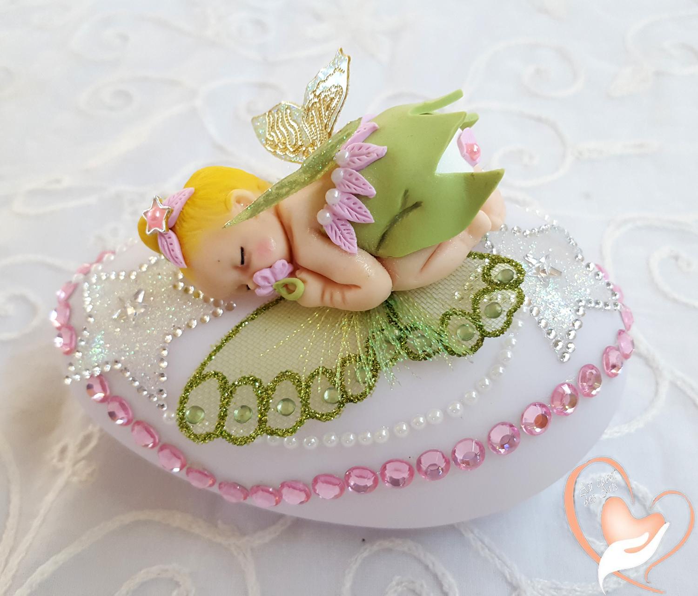 Coeur Des Fille Veilleuse Fée Au Clochette Bébé Galet Lumineux trCdQsh