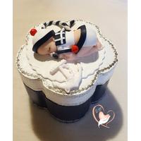 Boîte à dent de lait ou à dragées bébé garçon marin  - au coeur des arts