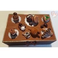Boîte à sucre ou à biscuits chocolat- café - au coeur des arts