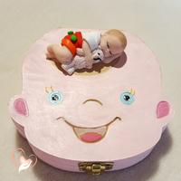 Boîte à dents de lait bébé garçon avec son ours - au cœur des arts