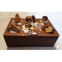 Boîte à sucre ou à biscuits chocolat café - au coeur des arts