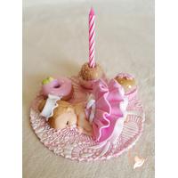 Porte bougie anniversaire bébé fille - au coeur des arts