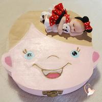 Boîte à dents de lait bébé fille  Mini - au cœur des arts