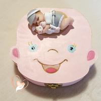 Boîte à dents de lait bébé garçon avec son lapin - au cœur des arts