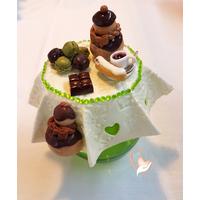 Sucrier ou pot à confiture pistache chocolat - au coeur des arts
