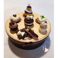 Boîte à biscuits ou gâteaux vanille chocolat - au coeur des arts