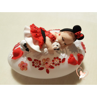 Veilleuse galet lumineux bébé fille Mini - au coeur des arts